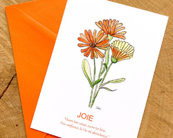 Carte Calendula - Joie