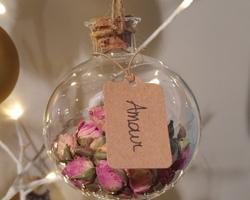 Boule Porte-bonheur - Rose - Amour