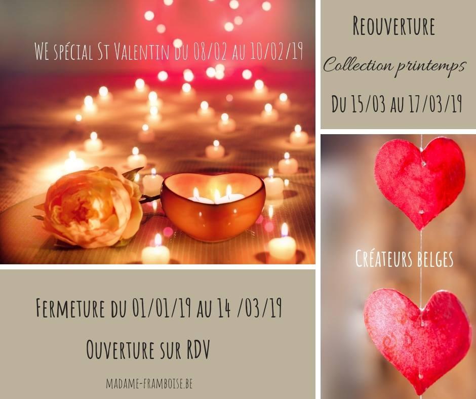 WE spécial St Valentin chez Madame Framboise